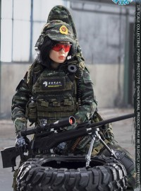 FLAGSET FS-73021 CHINESE PEOPLE'S ARMED POLICE FORCE SNOW LEOPARD COMMANDO UNIT FEMALE SNIPER 中國人民武裝警察部隊特警部隊雪豹突擊隊女狙擊射手-02