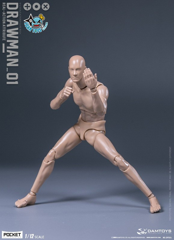 DAMTOYS DPS01 ACTION FIGURE - DARWMAN 繪畫人-05