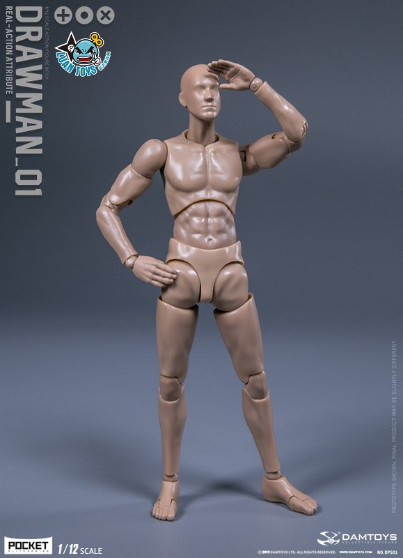 DAMTOYS DPS01 ACTION FIGURE - DARWMAN 繪畫人-08