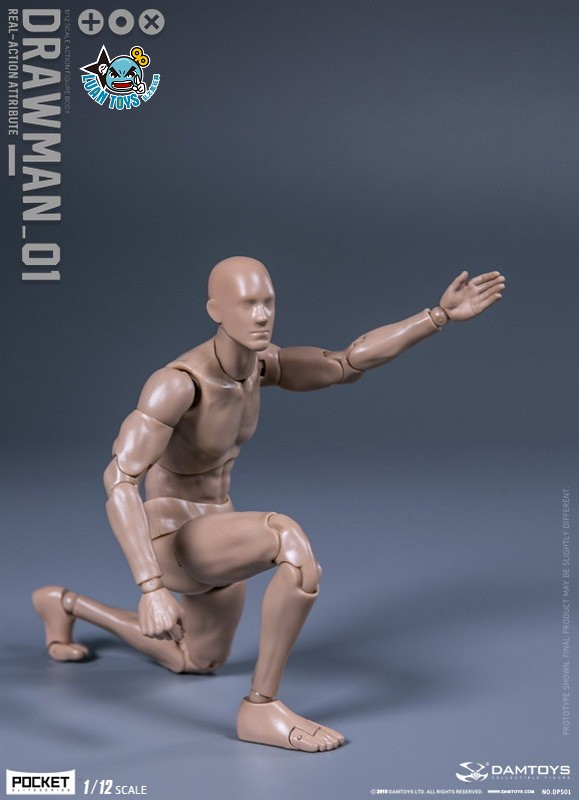 DAMTOYS DPS01 ACTION FIGURE - DARWMAN 繪畫人-09