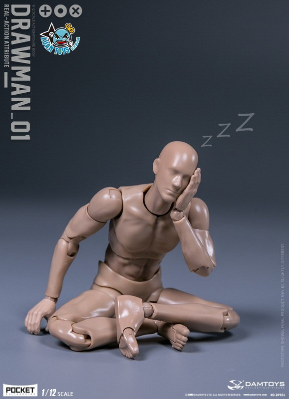 DAMTOYS DPS01 ACTION FIGURE - DARWMAN 繪畫人-11