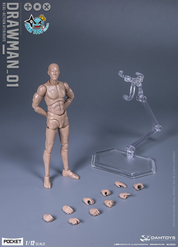 DAMTOYS DPS01 ACTION FIGURE - DARWMAN 繪畫人-15