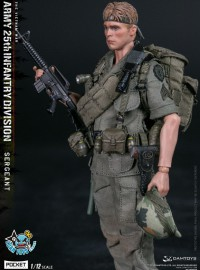 DAMTOYS PES005 US ARMY 25th INFANTRY DIVISION PRIVATE SERGEANT 越戰美國陸軍第25步兵師中士-01