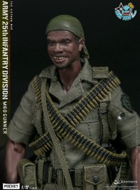 DAMTOYS PES010 US ARMY 25th INFANTRY DIVISION M60 GUNNER 越戰美國陸軍第25步兵師M60機槍兵-01