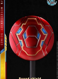 MTOYS MS001 IRON MAN ROUND SHIELD 鋼鐵人金屬盾牌配件組-03