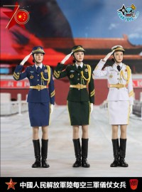 LAST TOY LT007 THE THREE SERVICES OF THE CHINESE PEOPLE'S LIBERATION ARMY 中國人民解放軍陸海空三軍儀仗隊女兵(DX版)