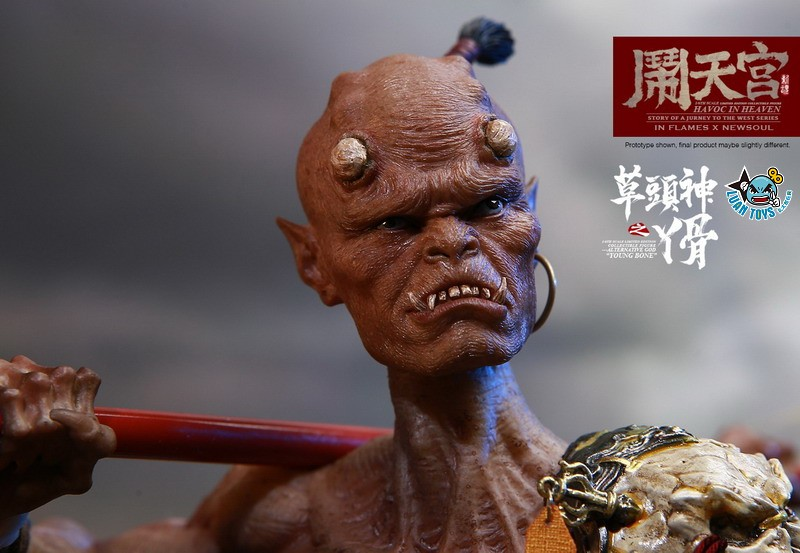 INFLAMES TOYS X NEWSOUL TOYS IFT-047 HAVOC IN HEAVEN SERIAL 鬧天宮系列 – ALTERNATIVE GOD YOUNG BONE  草頭神 丫骨-01