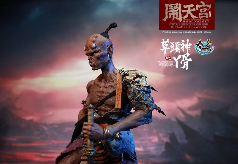 INFLAMES TOYS X NEWSOUL TOYS IFT-047 HAVOC IN HEAVEN SERIAL 鬧天宮系列 – ALTERNATIVE GOD YOUNG BONE  草頭神 丫骨-04