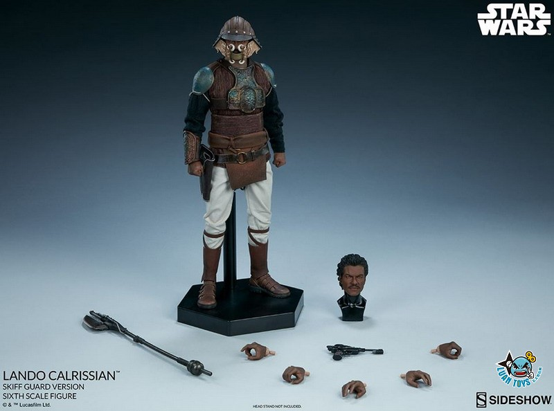 SIDESHOW STAR WARS EPISODE VI RETURN OF THE JEDI 星際大戰六部曲 絕地大反攻 – LANDO CALRISSIAN 藍道史基夫(BILLY DEE WILLIAMS 比利迪威廉斯飾演)(SKIFF GUARD VERSION 守衛版)-21