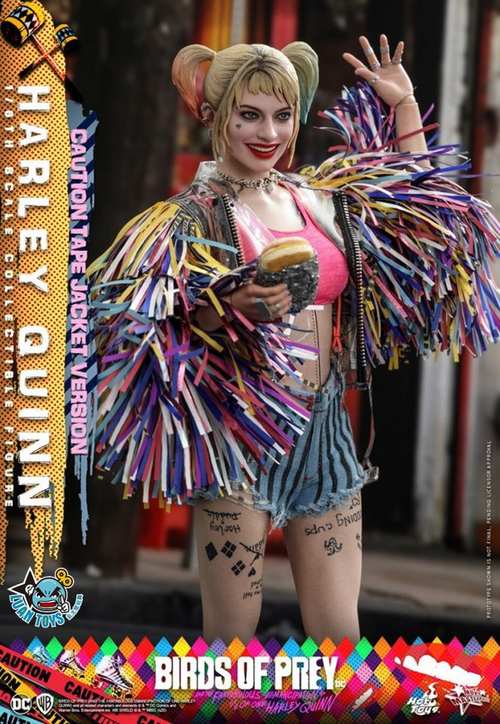 HOT TOYS DC BIRDS OF PREY 猛禽小隊 小丑女大解放 – HARLEY QUINN 小丑女 哈莉奎茵(MARGOT ROBBIE 瑪格羅比飾演)(CAUTION TAPE JACKET 警示外套版Ver.)-07