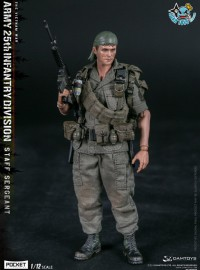 DAMTOYS  PES006 US ARMY 25th INFANTRY DIVISION PRIVATE STAFF SERGEANT 越戰美國陸軍第25步兵師上士-02