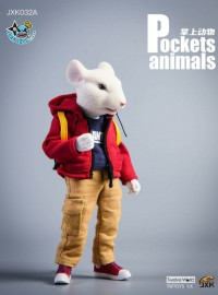 JXK Studio JXK032A POCKETS ANIMALS 掌上動物系列 - 鼠小弟(A款)-02
