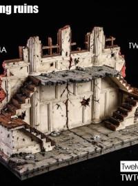 TWTOYS TW1924 BATTLE DAMAGED 戰損建築場景地台-03