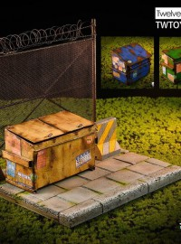 TWTOYS TW2027 THE TRASH & METAL MESH SCENE 垃圾桶 & 鐵絲網場景組-01