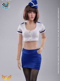Create models D-04C CABIN ATTENDANT SET 空服員服裝配件組-01