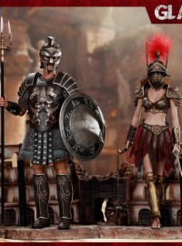 HH Model X HaoYuTOYS HH18019 GLADIATOR & IMPERIAL FEMALE GLADIATOR 神鬼戰士 麥克希穆 & 帝國女角鬥士(RED 紅翎毛)-01