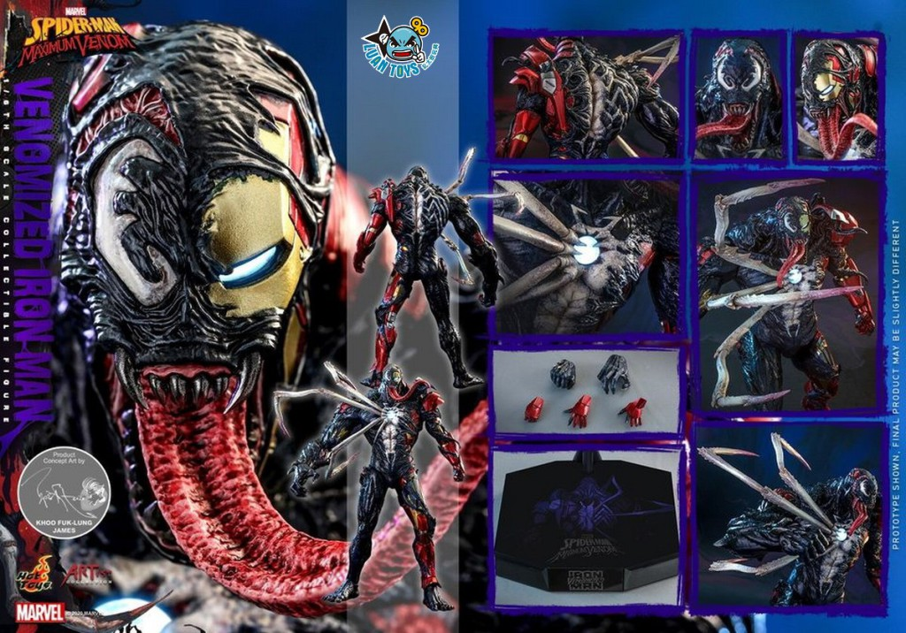 HOT TOYS MARVEL'S SPIDER-MAN MAXIMUM VENOM 蜘蛛人 極限猛毒 – VENOMIZED IRON MAN 猛毒鋼鐵人-19